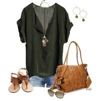 150 pretty casual shorts summer outfit combinations (154)
