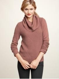 Gap cable cowlneck sweater. Scored this for 1/2 price too. So soft and comfy!
