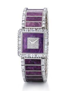 Reloj de Alta Joyería en oro blanco, diamantes y rubíes