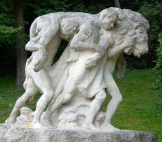 Edmond Desca : Mort du Lion, Parc Montsouris Paris XIV