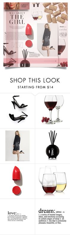 """""""Untitled #611"""" by my-names-michi ❤ liked on Polyvore featuring LULUS, Kershaw, Libbey, Express, Fornasetti, NARS Cosmetics, WALL, Balmain, girlstrip and WineTastingOutfit"""