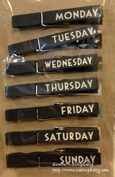Days of Week Clip Set  Taking my OCD to the next level