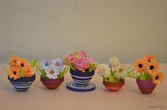 minnatures | Niketa's Creative Corner: (3D Paper Quilling) Miniature flower pots