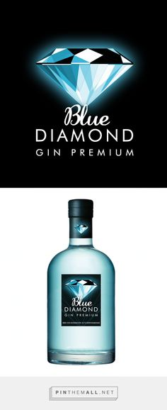 Blue Diamond. Gin Premium Sevilla « KKTWA. Diseño Grafico Terrassa curated by Packaging Diva PD.