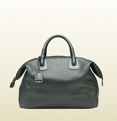 Gucci green leather carry-on duffle bag 150 Worth Avenue in Palm Beach FL