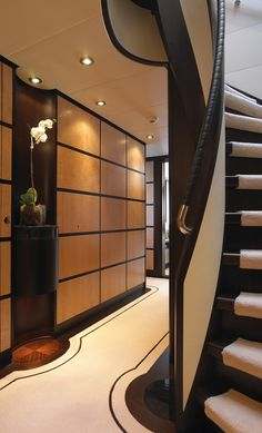 2ND TIER INTERIOR SPA: Hallway Idea.  Rather Have Different Carpet On Stairs  F45 Harle | Sinot Yacht Design