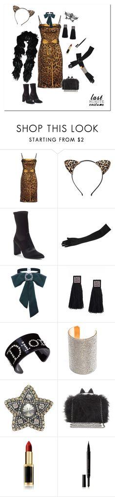 """Last minute costume"" by deborah-518 ❤ liked on Polyvore featuring Dolce&Gabbana, Felina, Stuart Weitzman, Christian Dior, Lanvin, BCBGMAXAZRIA, L'Oréal Paris, Burberry and lastminutecostume"