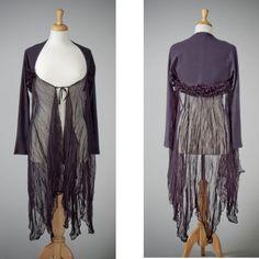 Womens repurposed black stretch shrug jacket by redeuxclothing, $125.00