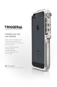 TRIGGER titanium iPhone 5 case by 4thdesign http://buybackqueen.com/