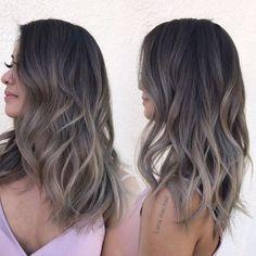 Ash Brown Hair Color, Brown Ombre Hair, Ombre Hair Color, Light Brown Hair, Hair Color Balayage, Cool Hair Color, Hair Highlights, Ash Brown Hair Balayage, Dark Ombre