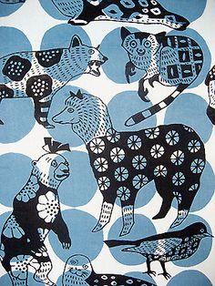 動物【textile design makumo】