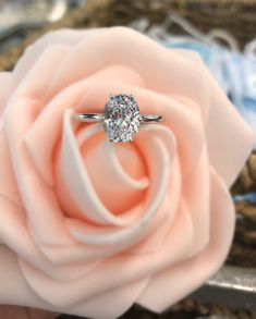 Tacori solitaire oval diamond engagement ring from Diamonds Direct. This ring is in a 6-prong setting. #tacori #solitaire #oval #diamond #engagementring #6prong
