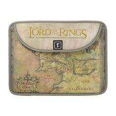 Middle Earth Map Sleeve For MacBook Pro #lordoftherings