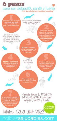 6 pasos para ser delga@ san@ y fuerte