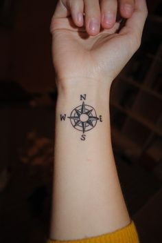 wheel compass tattoo. Because you know how I like designs like this.