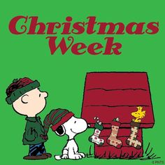 """Christmas week is just around the corner.... Snoopy says, """"Yay!!!"""""""
