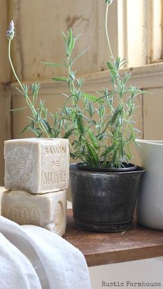 french provincial styling idea, lavender soap. Rustic Farmhouse