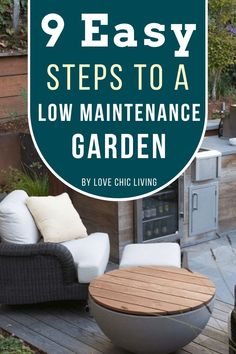 9 easy steps to creating a low maintenance garden. Make your garden easy to care for with these 9 simple steps | Easy care garden inspiration | Garden care tips | Minimalist garden decor inspiration | Garden Spaces, Garden Beds, False Grass, Contemporary Garden Rooms, Minimalist Garden, Low Maintenance Garden, Sun And Water, Garden Care, Garden Inspiration