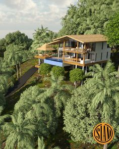Luxury villa with infinity pool and overlooking sea view Bamboo House Design, Thai House, How To Buy Land, Architecture Plan, Land For Sale, Luxury Villa, Condominium, Villas, Service Design