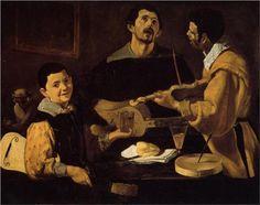 Diego Velazquez - Three Musicians Gemäldegalerie, Berlin - Oil on canvas, 88 x 111 cm Spanish Painters, Spanish Artists, Hans Baldung Grien, Renaissance, Diego Velazquez, Madrid, Google Art Project, Baroque Art, Baroque Painting