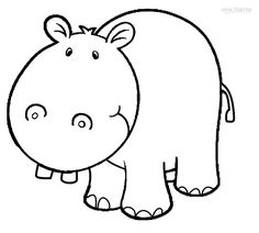 Coloring Printable Hippo Pages For Kids And R Of A Cartoon Heavy Crushing Scale