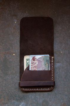 Minimalist Leather Wallet. $15.00, via Etsy.