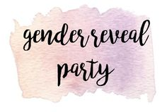 This is the cover pin for my Pinterest board full of ideas for our gender reveal party.