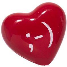 Winking Heart Emoticon Paperweight $12.99