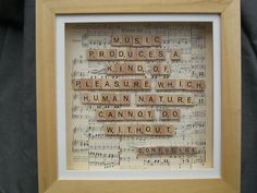 Scrabble tile art in wooden box frame  by PatchworkPapillon, $112.00