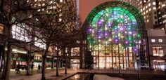 5 Top Spots for Holiday Lights in Manhattan to Brighten Up the Season: Metamorphosis at Brookfield Place's Winter Garden