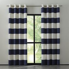 curtains for dining room? // Alston Ivory/Midnight Curtains