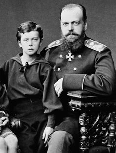 Grand Duke Nicholas Alexandrovich & Tsarevich Alexander Alexandrovich, 1878