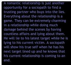 Romantic relationship and the sociopath. . Narcissistic Abuse Recovery