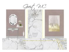 Guest WC by veryvlada on Polyvore featuring interior, interiors, interior design, дом, home decor, interior decorating, Robert Welch, Hotel Collection, Regina Andrew Design and Nearly Natural