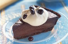 Frozen Chocolate Cream Pie for Two