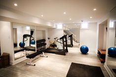 Basement gym.. Perfect Bright Lighting!