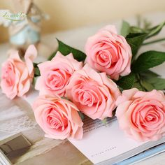 Cheap touch flower, Buy Quality artificial flowers silk flower directly from China silk flower rose Suppliers: loveplus 10 pcs Artificial Flowers Silk Flower Rose Bouquet Real Touch Flowers for Wedding Home Party Decoration Table Decor