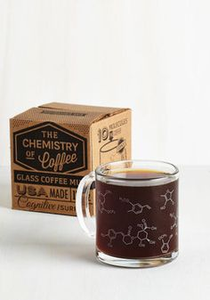 Pour-ganic Chemistry Mug. Raise a toast to potable equilibrium with this quirky mug. #white #modcloth