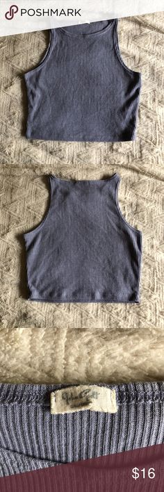 John Galt Blue Crop Tank Top Gently Worn I have a bunch of items in my closet so feel free to bundle🛍 I ship Monday-Saturday each day by 4pm📦💌 If making an offer, please be reasonable as Poshmark takes a hefty 20% of all items over $15 or a flat fee of $2.95 if the item is under $15😊 Smoke free home🚭 Always sending good vibes and happy poshing🌞❤️✨ Brandy Melville Tops Tank Tops