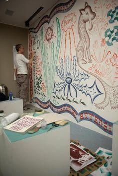 Wallpaper handmade exibition