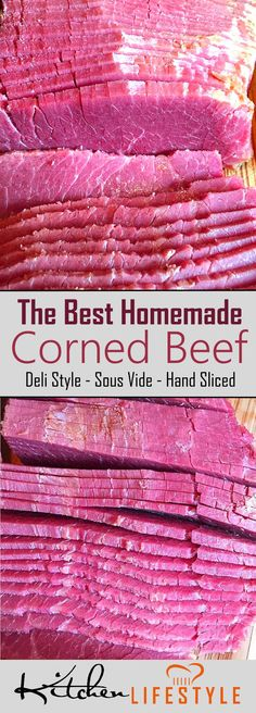 The Best Sous Vide Corned Beef Recipe - Are you a Corned Beef fan? If you are, then this corned beef recipe is for you! It's been tested to perfection. via @kitchnlifestyle #sousvide #sousviderecipes #cornedbeef #cornedbeefrecipes