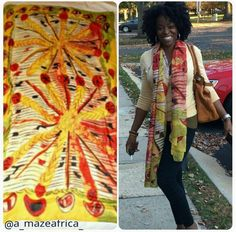 @a_mazeafrica_ looking gorgeous in her FINGERCOMBER Unit, and one of her FABULOUS SCARF designs! She crafts lovely peices!#handmade #lovelycrafts #FINGERCOMBERUNIT #FINGERCOMBER