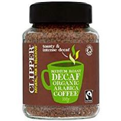 Clipper Fairtrade Organic Decaffeinated Freeze Dried Arabica Coffee - Pack of 2 Coffee Creamer, Iced Coffee, Coffee Cups, Highlands Coffee, Fair Trade Coffee, Espresso Shot, Shops, Coffee Staining, How To Make Coffee