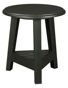 Broyhill New Vintage Ebony Round Lamp Table Living Room Sets, Living Room Furniture, Small End Tables, Round Design, Family Room, Table Lamp, Vintage, Home Decor, Cabinet