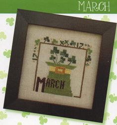 Joyful Journal March is the title of this cross stitch pattern from Heart In Hand and is part of the Joyful Journal series from this designer.