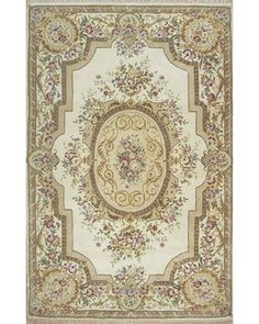 The French Elegance Collection features magnificent formal rug designs in gorgeous color palettes. Each rug is expertly hand crafted using superior quality wool and silk, creating a luxurious pile texture with beautiful highlights.