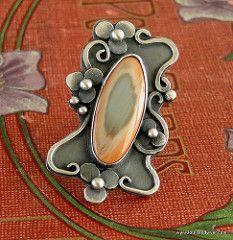 Imperial jasper ring | by Louise O'Dwyer