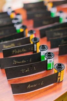 Old rolls of film for guests