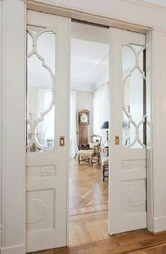 Cavity sliding doors for formal area