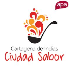 Logo design for a brand in Cartagena, Colombia. Cartagena Ciudad Sabor says gastronomy, caribbean music, culture and turism.  What does your brand say?  #Logo #LogoDesign #Design #AdvertisingAgency #Marketing #Branding #Brands #APACreative #Cartagena #Colombia #Miami #Panama #Colors #CMYK #PrintDesign #WebDesign